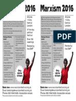 Marxism Flyer for Junior Docs Picket Lines