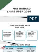 Format Baharu Sains Upsr 2016a