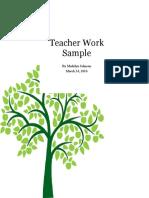 teacher work sample- internship 2016  6