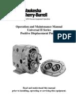Waukesha Universal II Positive Displacement Pumps Manual