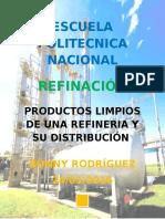 PRODUCTOS LIMPIOS DE UNA REFINERÍA