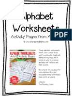 Alphabet Worksheets From a to Z