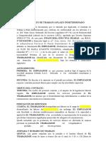 Contrato Indeterminado Financiera Huaraz