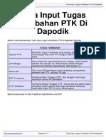 Download Cara Input Tugas Tambahan PTK Di Dapodik Datadapodik.com