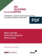 Tres Decadas Del Desarrollo Rural en La Argentina