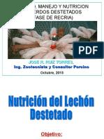 Sanidad y Nutricion Del Lechon Destetado