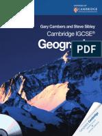 Cambridge ICGSE Geography Case Studies