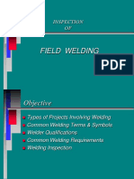 Inspection of Field Welding