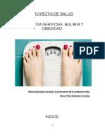 Proyecto de intervención sobre trastornos alimentarios
