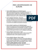 Las Mejores Universidades de Europa Udch