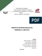 Reservas Internacionales de Venezuela. (1980-2015)