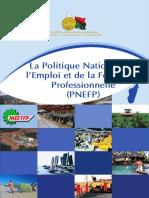 la Politique Nationale de l'Emploi et de la Formation Professionnelle (PNEFP)