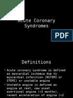 Acute coronary syndrome