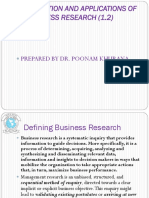 Definition and Applications of Business Research
