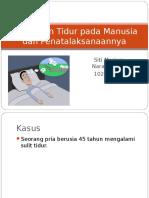 Gangguan Tidur Pada Manusia Dan Penatalaksanaannya