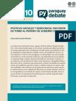 POLITICAS SOCIALES Y DEMOCRACIA - LILIANA DUARTE RECALDE - AGOSTO 2014 - PORTALGUARANI