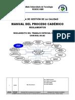 Reglamento Del Trabajo Especial de Grado Mayo 2015