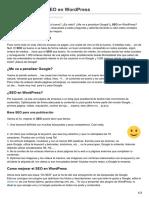 Como Mejorar El SEO en WordPress