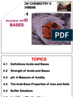 Chm096 Chapter 4 Acids and Bases