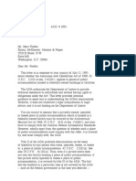 US Department of Justice Civil Rights Division - Letter - tal366