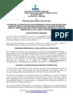 Convocatoria Publica E.S.E CAMU LA APARTADA