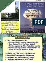 Biblical Hebrew Grammar Presentation
