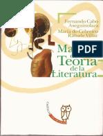 Cabo Aseguinolaza Fernando, Manual de Teoría de La Literatura