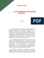 La Situacion Italiana y Las Tareas Del P.C.I