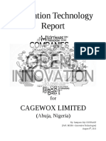 Innovative Technologies Report for CAGEWOX.net LLC