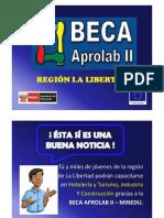 Becas APROLAB II - La Libertad- Afiche