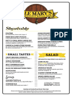 Ale Mary's Menu