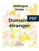 Catalogue Ligaran Livres Domaine Etranger