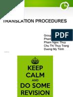 13E16 - Unit 4 - Translation Procedures