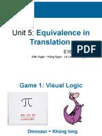 13E16 - Unit 5 - Equivalence