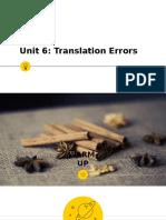 13E16 - Unit 6 - Translation Errors