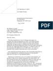 US Department of Justice Civil Rights Division - Letter - tal373