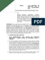 RECURSO DE APELACION ADMINISTRATIVO