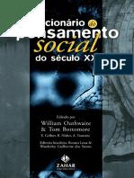 Dicionario Do Pensamento Social Do Seculo XX