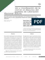 Construcción y movilización de la sociedad civil en el discurso del Ejercito Zapatista de Liberación Nacional (EZLN)