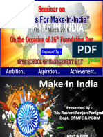 Seminar Presentation on MAKE in INDIA