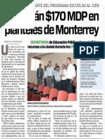 24-04-16 Invertirán $170 MDP en planteles de Monterrey
