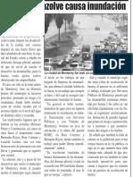 24-04-16 Falta de desazolve causa inundación