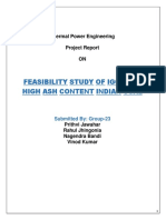 Feasibility study of Integrated Gasification combined cycle (IGCC) in terms of the following parameters