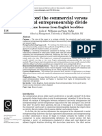 Beyond the Commercial Versus Social Entrepreneurship Divide
