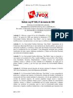 Ley 1445 de Gonzalo Sanchez