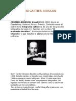 HenriCARTIER Bresson Biografia y Recursos