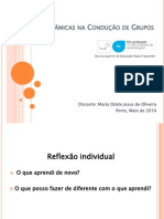 Técnicas e Dinâmicas na Condução de Grupos Reflexão Individual