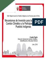 Mecanismos de Inversión para la Gestión del Cambio Climático