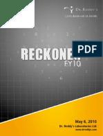 Dr. Reddy's FY10 - Reckoner