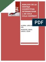 Coca Cola Company Analisis de La Competencia